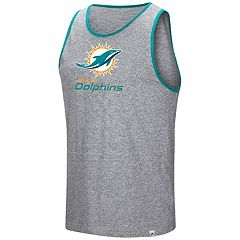 Men's Majestic Miami Dolphins Go the Route Tank Top