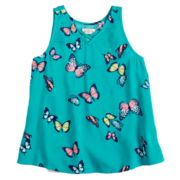 Girls 7-16 & Plus Size SO® Woven Cross Front Tank Top