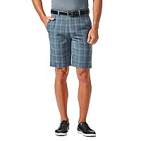 Men's Haggar® Cool 18® PRO Straight-Fit Plaid Stretch Flat-Front Shorts