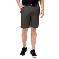 Men's Haggar® Premium Straight-Fit No-Iron Khaki Flat-Front Shorts