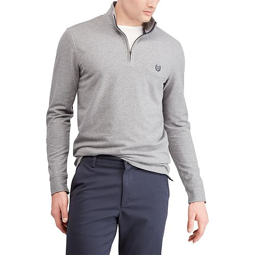 Big & Tall Chaps Regular-Fit Stretch Quarter-Zip Pullover