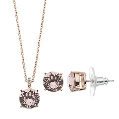 Brilliance Pendant & Stud Earrings Set with Swarovski Crystals