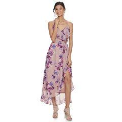 Women's Jennifer Lopez Ruffle Chiffon Faux-Wrap Dress