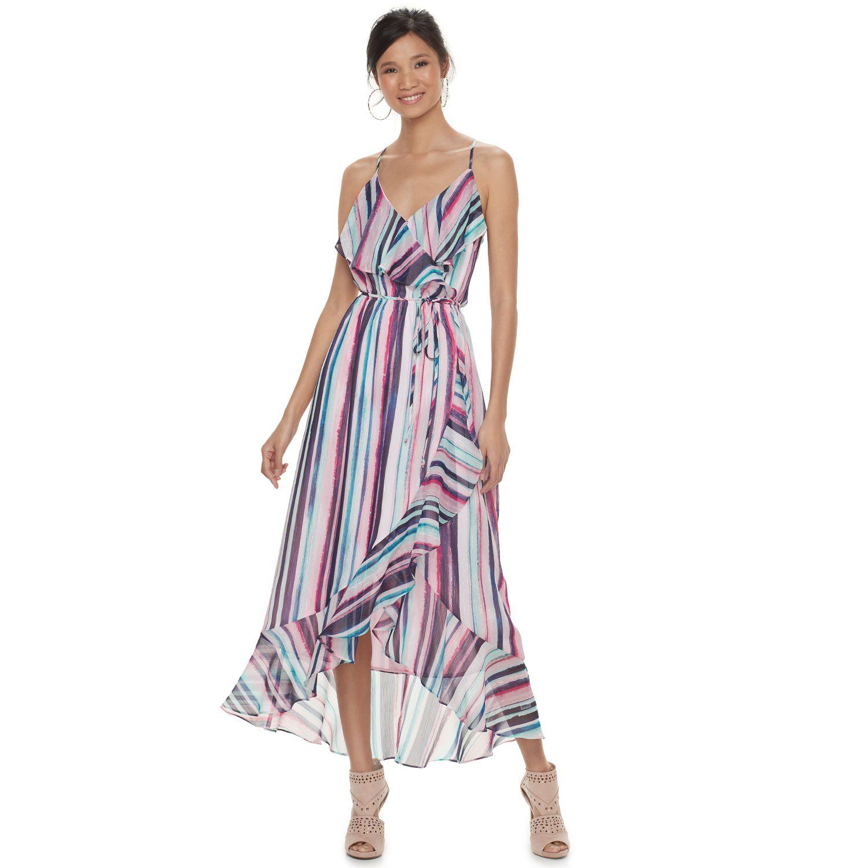 Womenu0027s Jennifer Lopez Ruffle Chiffon Faux Wrap Dress