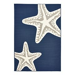 Natco Tributary Starfish Duo Indoor Outdoor Rug