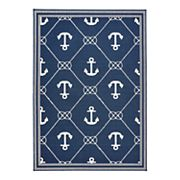 Natco Tributary Anchor Indoor Outdoor Rug