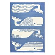 Natco Tributary Patterned Whales Indoor Outdoor Rug