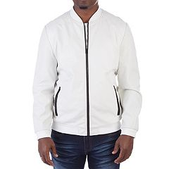 Men's XRAY Faux-Leather Varsity Jacket