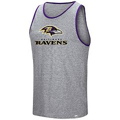 Men's Majestic Baltimore Ravens Go the Route Tank Top