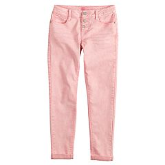 Girls 7-16 & Plus Size SO® Triple Button Girlfriend Skinny Jeans