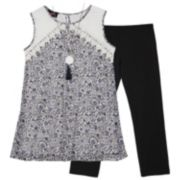 Girls 7-16 IZ Amy Byer Tank Top & Legging Set with Necklace