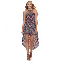 Juniors' Candie's® Walk-Through Halter Maxi Romper