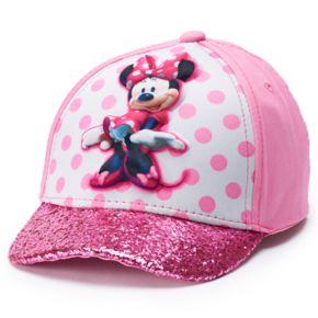 Disney's Minnie Mouse Toddler Girl Glittery Baseball Cap Hat