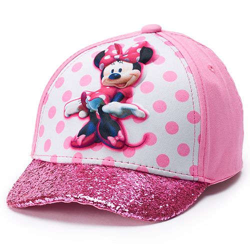 Disney's Minnie Mouse Toddler Girl Glittery Baseball Cap Hat