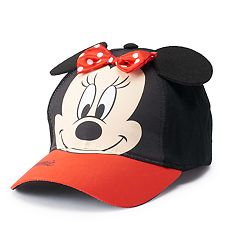 Disney's Minnie Mouse Toddler Girl 3D Bow & Ears Baseball Cap Hat