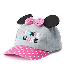 Disney's Minnie Mouse Toddler Girl 3D Ears & Bow Baseball Cap Hat