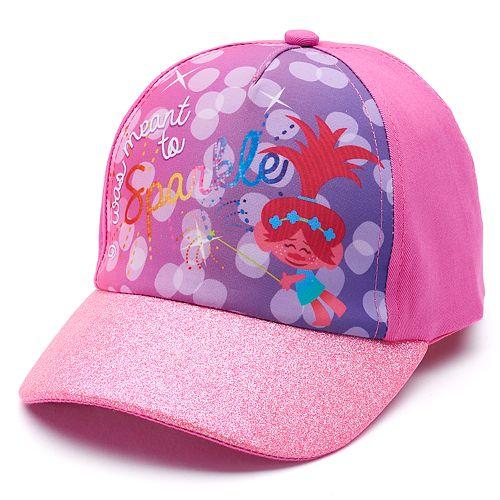 Toddler Girl DreamWorks Trolls Poppy Glitter Baseball Cap Hat