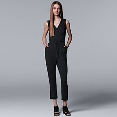 Women's Simply Vera Vera Wang Faux-Wrap Cropped Jumpsuit