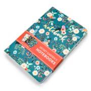 OCS Secret Garden Floral Notebook 3-piece Set