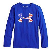Boys 8-20 Under Armour Flag Logo Tee