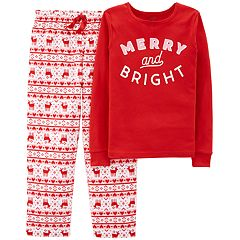 Girls 4-14 Carter's 'Merry and Bright' Christmas Top & Bottoms Pajama Set