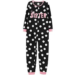 Girls 4-14 Carter's 'Best Sister' Polka-Dot One-Piece Footless Pajamas