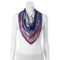 Womens Loop Scarf with Patch Print Towels Street One