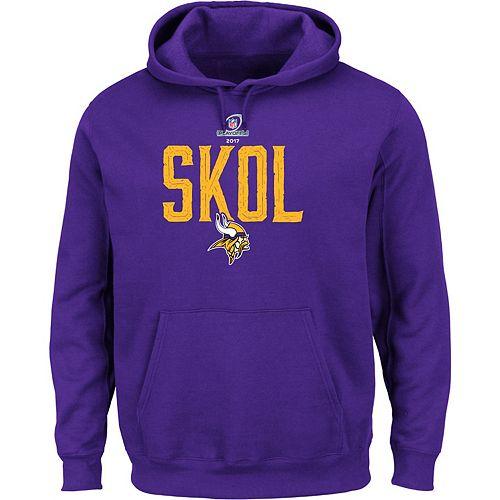 a25475011 Men s Minnesota Vikings 2017 NFL Playoffs SKOL Hoodie