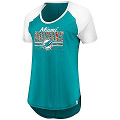 Women's Majestic Miami Dolphins Break the Win Tee