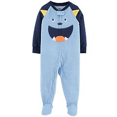 Toddler Boy Carter's Monster Microfleece Footed Pajamas