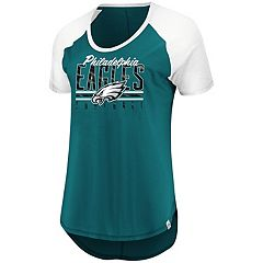 Women's Majestic Philadelphia Eagles Break the Win Tee