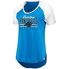 Women's Majestic Carolina Panthers Break the Win Tee