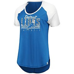 Women's Majestic Detroit Lions Break the Win Tee