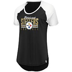 Women's Majestic Pittsburgh Steelers Break the Win Tee