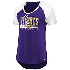 Women's Majestic Minnesota Vikings Break the Win Tee