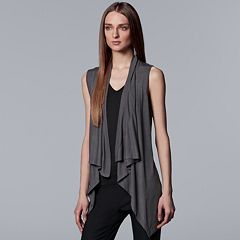 Women's Simply Vera Vera Wang Draped Open-Front Vest