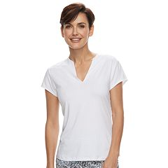 Women's Grand Slam White Short Sleeve Tennis Top