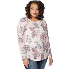Juniors' Plus Size Wallflower Hacci Tee