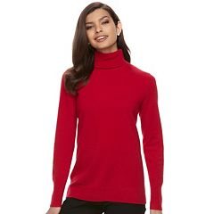 Women's Apt. 9® Cashmere Turtleneck Sweater