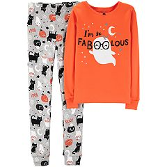 Girls 4-14 Carter's 'So Faboolous' Ghost Halloween Top & Bottoms Pajama Set