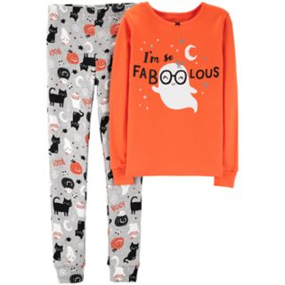 "Girls 4-14 Carter's ""So Faboolous"" Ghost Halloween Top & Bottoms Pajama Set"