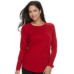 Women's Apt. 9® Metallic Crewneck Sweater