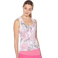 Women's Grand Slam Dotted Rose Print Tennis Tank