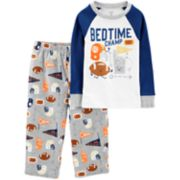 "Toddler Boy Carter's ""Bedtime Champ"" Football Top & Fleece Bottoms Pajama Set"
