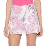 Women's Grand Slam Dotted Rose Print Tennis Skort