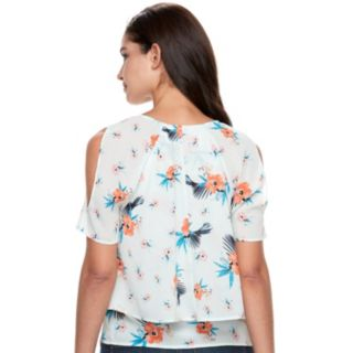 Women's Juicy Couture Layered Cold-Shoulder Top