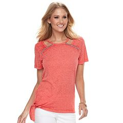 Women's Juicy Couture Burnout Embellished Tee