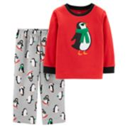 Toddler Boy Carter's Penguin Top & Microfleece Bottoms Pajama Set