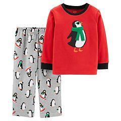 Toddler Boy Carter's Penguin Top & Microfleece Bottoms Pajama Set