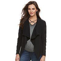 Women's Rock & Republic® Faux-Leather Trim Sweater Jacket